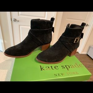 Kate Spade black suede fall boots